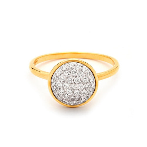 18kt Diamond Pave Chakra Ring-Rings-Syna-JewelStreet