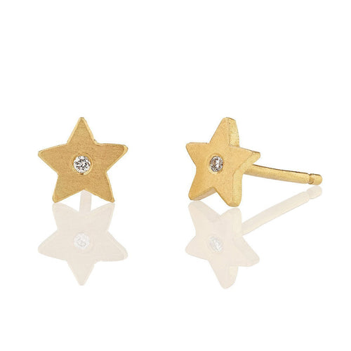 18kt Estrella Diamond Studs-Earrings-Shakti Ellenwood-JewelStreet