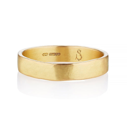 18kt Fairtrade Aria Wedding Band-Rings-Shakti Ellenwood-JewelStreet