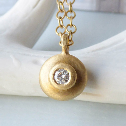 18kt Fairtrade Echo Diamond Pendant-Necklaces-Shakti Ellenwood-JewelStreet
