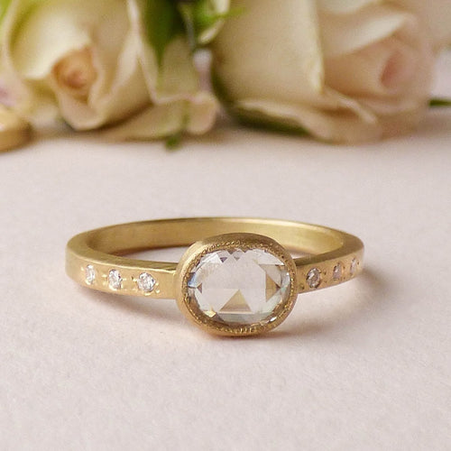18kt Fairtrade Gold Iris Diamond Ring-Rings-Shakti Ellenwood-JewelStreet