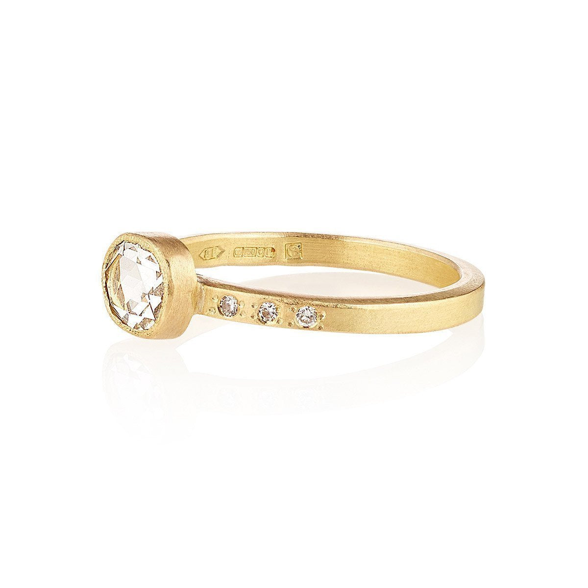 Shakti Ellenwood 18kt Fairtrade Gold Iris Diamond Ring - UK L - US 5 1/2 - EU 51 3/4