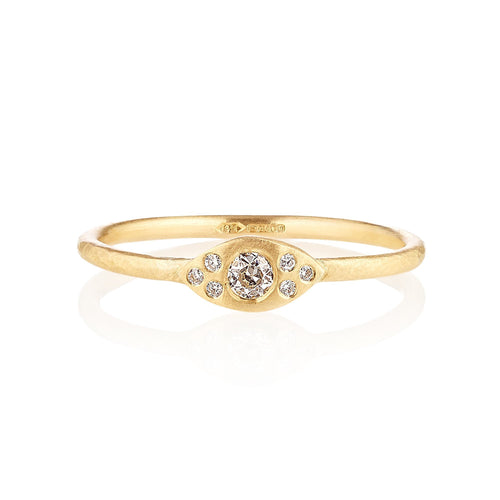 18kt Fairtrade Mia Diamond Ring-Rings-Shakti Ellenwood-JewelStreet