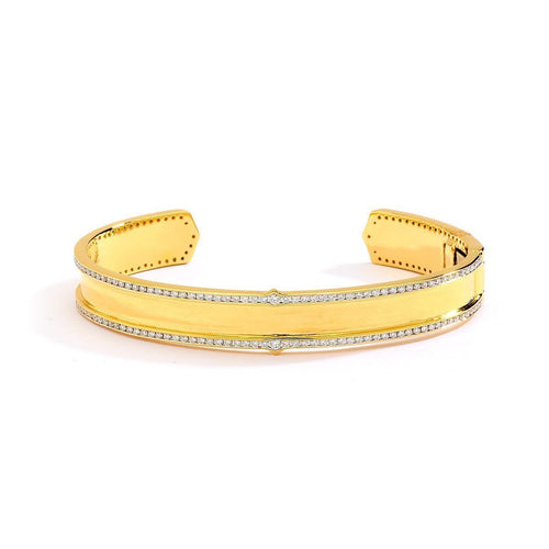 18kt Gold Bracelet With Diamonds-Bracelets-Syna-JewelStreet
