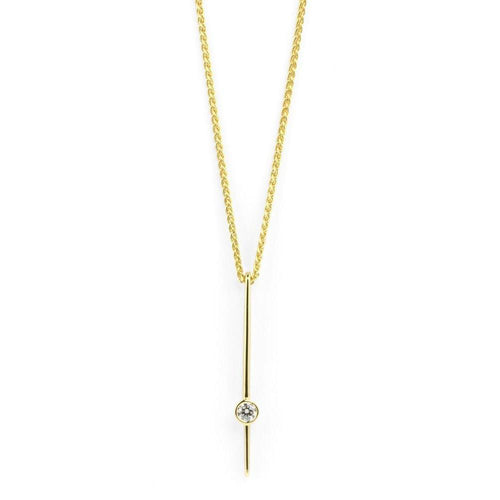 18kt Gold Diamond Necklace-Necklaces-Prism Design-JewelStreet