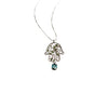 18kt Gold Topaz Hamsa Necklace ,[product vendor],JewelStreet