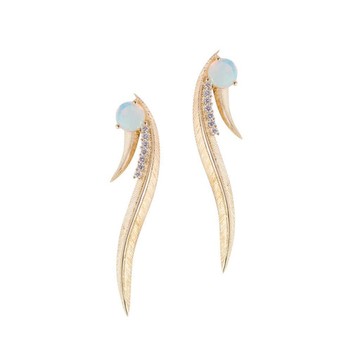 Phoenix Ear Climbers-Earrings-Daou Jewellery-JewelStreet