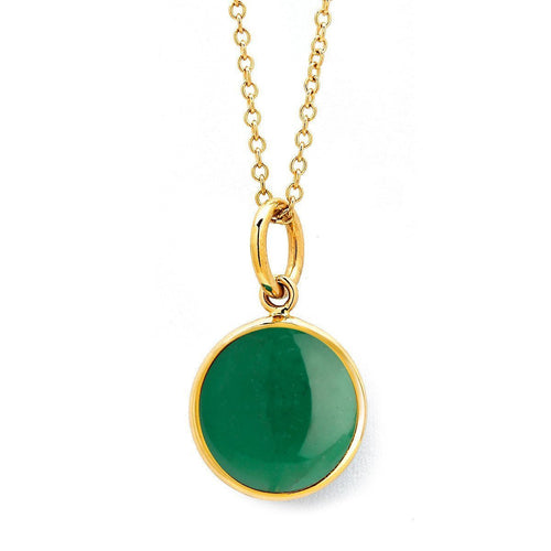 18kt Green Chalcedony Chakra Necklace-Necklaces-Syna-JewelStreet