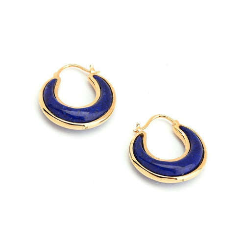 18kt Lapis Lazuli Earrings-Earrings-Syna-JewelStreet