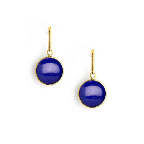 18kt Lapiz Lazuli Earrings-Earrings-Syna-JewelStreet