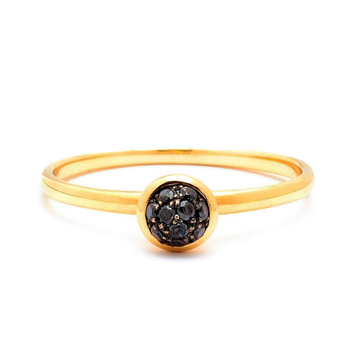 18kt Mini Black Diamond Ring-Rings-Syna-JewelStreet