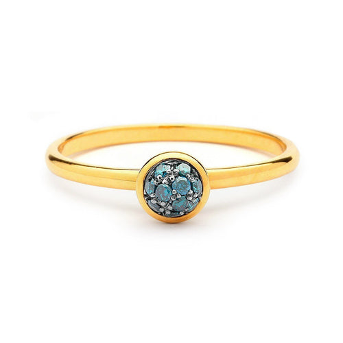 18kt Mini Blue Diamond Ring-Rings-Syna-JewelStreet