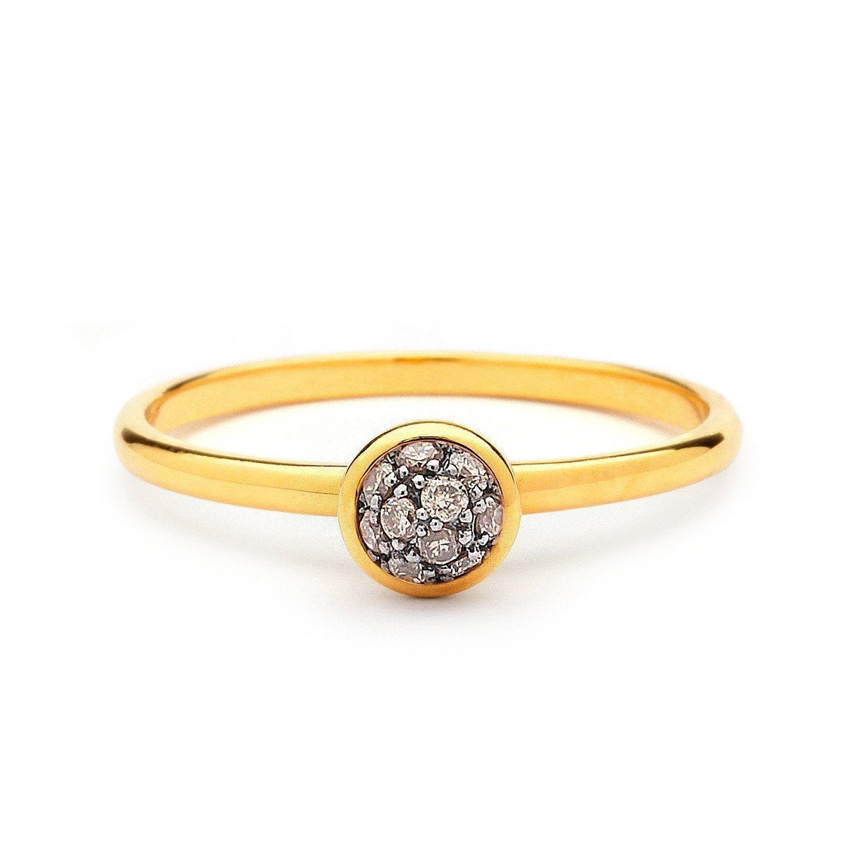 18kt Mini Champagne Diamond Ring
