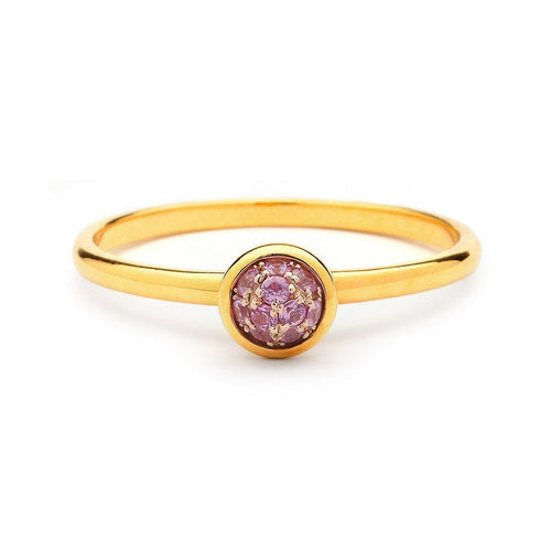 18kt Mini Pink Sapphire Ring-Rings-Syna-JewelStreet
