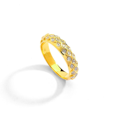 18kt Mogul Ring With Diamonds-Rings-Syna-JewelStreet