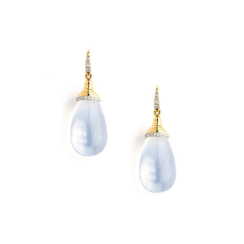 18kt Moon Quartz Drop Earrings-Earrings-Syna-JewelStreet