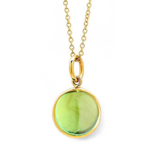 18kt Peridot Chakra Necklace-Necklaces-Syna-JewelStreet
