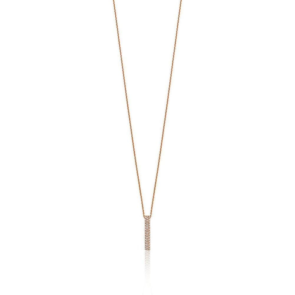 18kt Rose Gold Diamond Pendant-Necklaces-Soley London-JewelStreet
