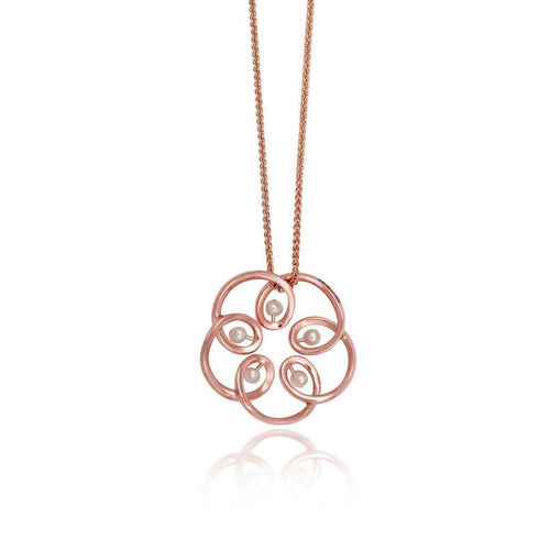 18kt Rose Gold Maia Pendant-Necklaces-September Rose-JewelStreet