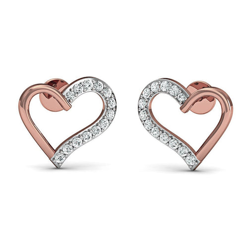 18kt Rose Gold Romance Inspired Designer Diamond Earrings-Earrings-Diamoire Jewels-JewelStreet
