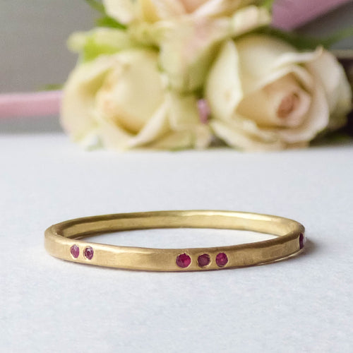18kt Ruby Evie Fairtrade Gold Eternity Ring-Rings-Shakti Ellenwood-JewelStreet