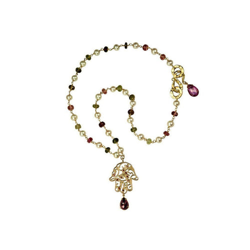 18kt Ruby Garnet Necklace ,[product vendor],JewelStreet