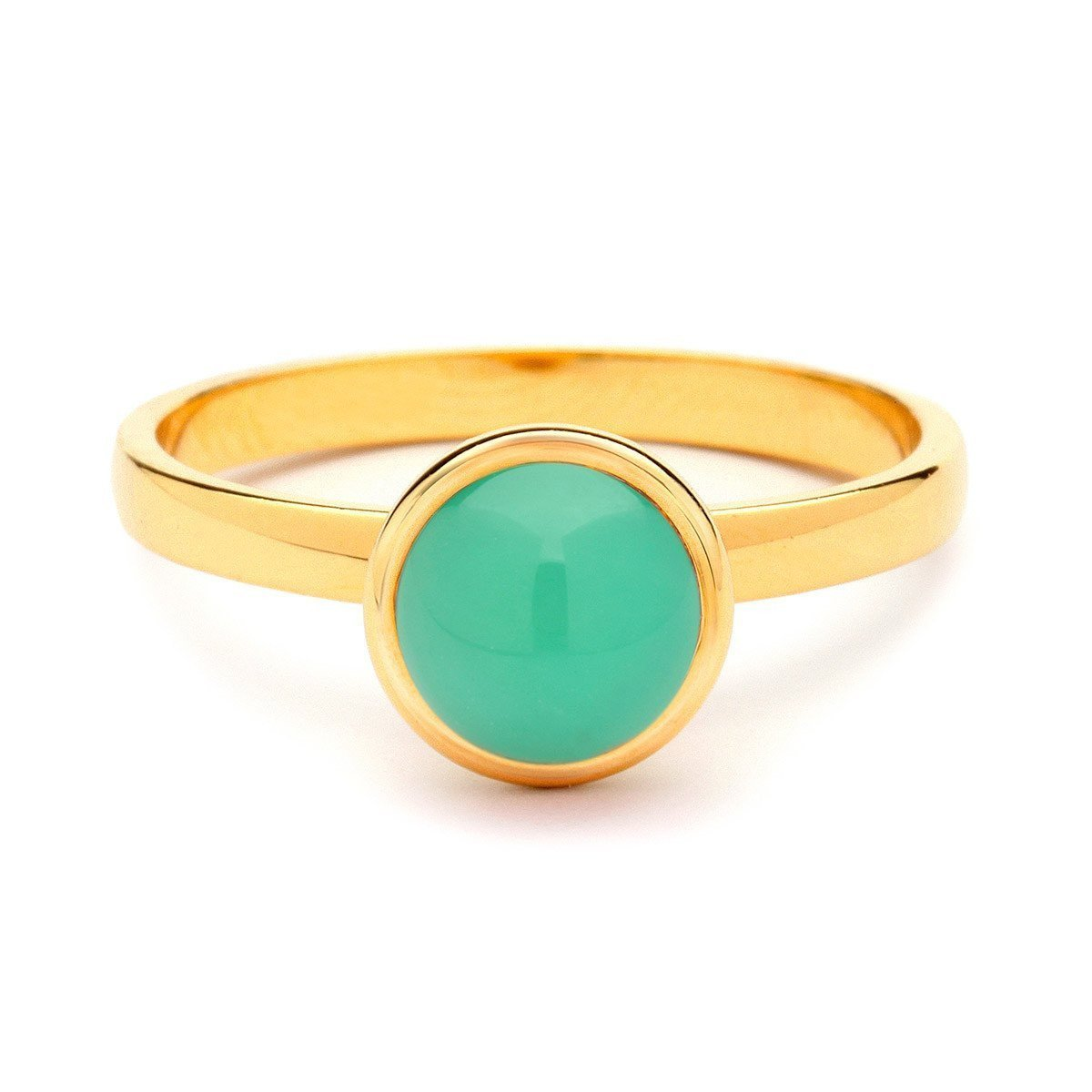 18kt Small Chrysoprase Bauble Ring-Rings-Syna-JewelStreet