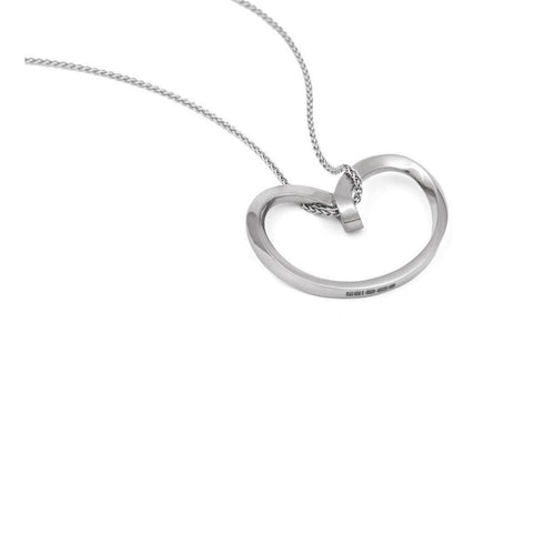18kt White Gold Isabella Pendant-Necklaces-September Rose-JewelStreet