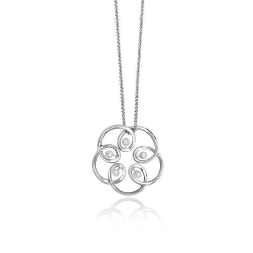 18kt White Gold Maia Pendant-Necklaces-September Rose-JewelStreet