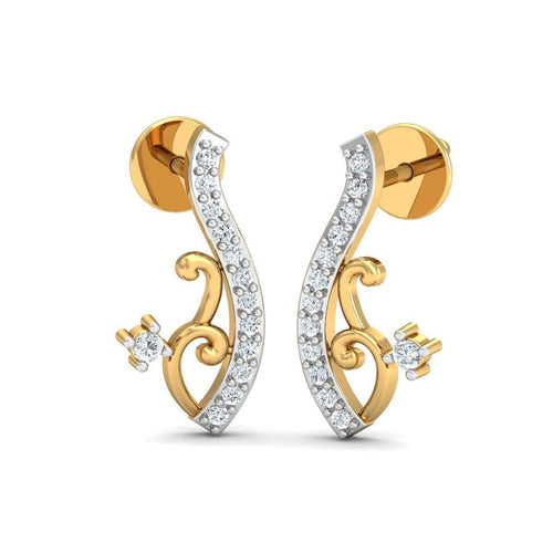 18kt Yellow Gold 0.10ct Pave Diamond Infinity Earrings IV ,[product vendor],JewelStreet