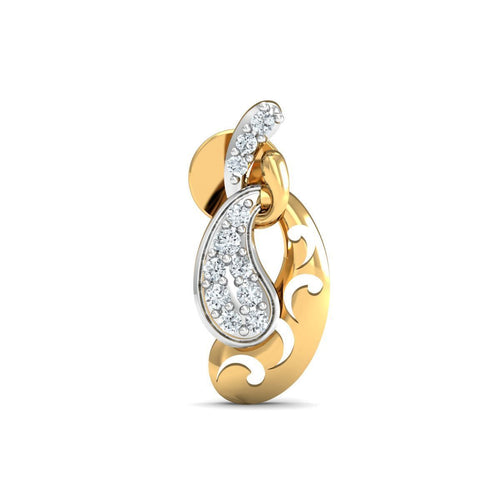 18kt Yellow Gold 0.11ct Pave Diamond Infinity Earrings I ,[product vendor],JewelStreet
