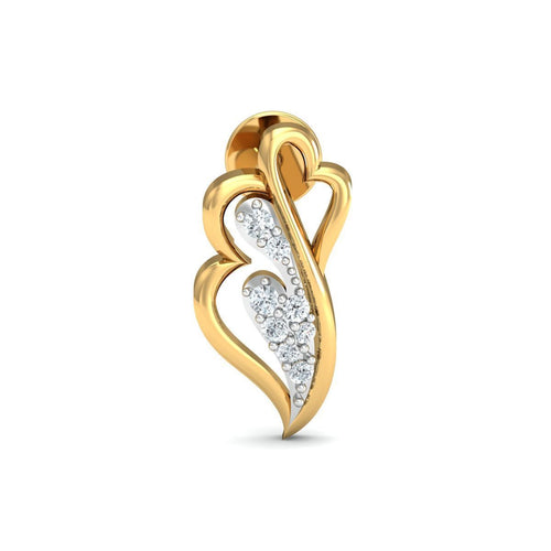 18kt Yellow Gold 0.11ct Pave Diamond Infinity Earrings III ,[product vendor],JewelStreet
