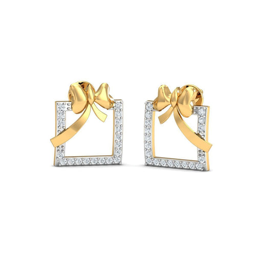 18kt Yellow Gold 0.20ct Pave Diamond Infinity Earrings II ,[product vendor],JewelStreet