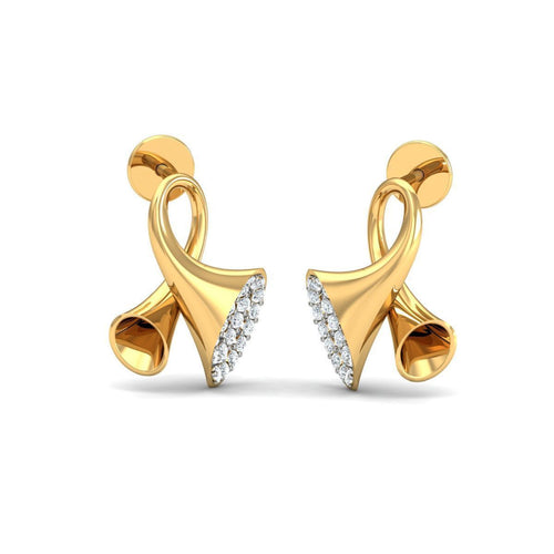 18kt Yellow Gold 0.24ct Pave Diamond Infinity Earrings I ,[product vendor],JewelStreet