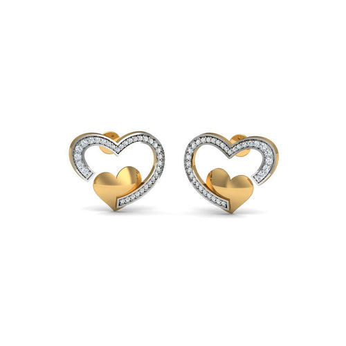 18kt Yellow Gold 0.31ct Pave Diamond Infinity Earrings ,[product vendor],JewelStreet