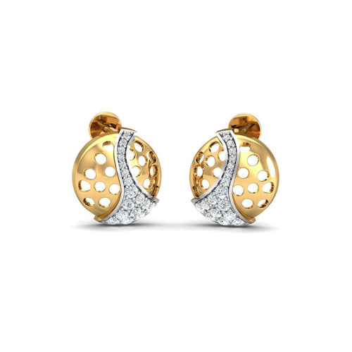 18kt Yellow Gold 0.34ct Pave Diamond Infinity Earrings I ,[product vendor],JewelStreet