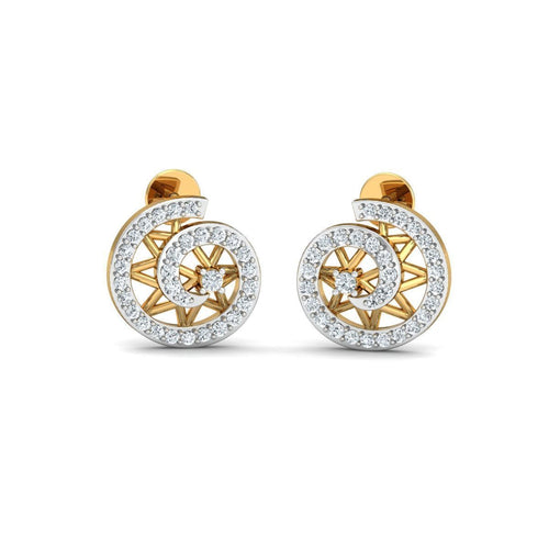 18kt Yellow Gold 0.38ct Pave Diamond Infinity Earrings ,[product vendor],JewelStreet