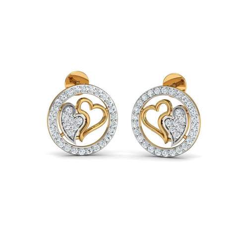 18kt Yellow Gold 0.61ct Pave Diamond Infinity Earrings ,[product vendor],JewelStreet