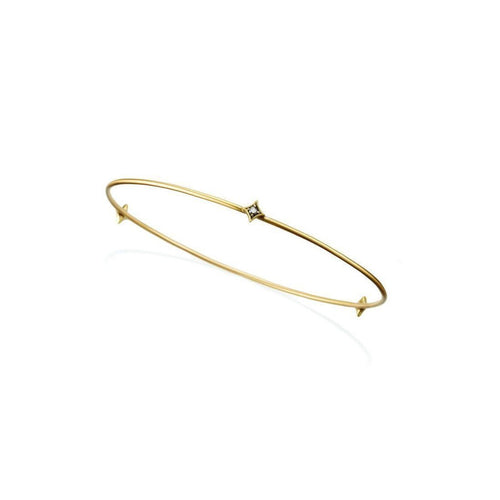 18kt Yellow Gold and Diamond Wire Bangle ,[product vendor],JewelStreet