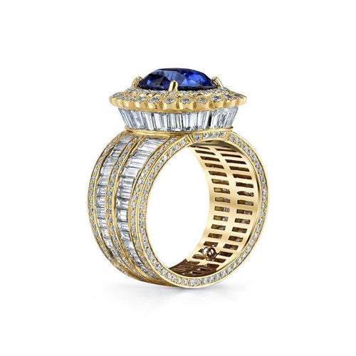 18kt Yellow Gold Diana Ring-Rings-Erica Courtney-JewelStreet