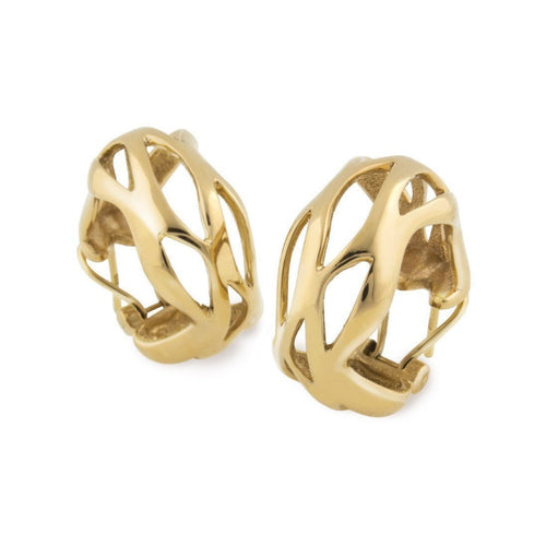 18kt Yellow Gold Earring-Earrings-Chavin Couture-JewelStreet