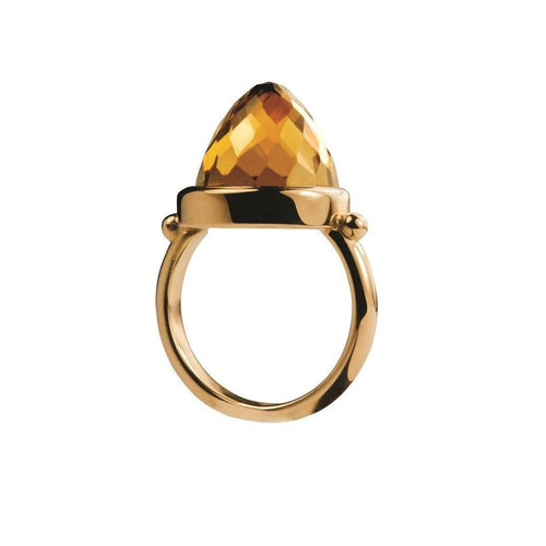 18kt Yellow Gold Gherkin Bullet Ring-Rings-Xanthe Marina-JewelStreet