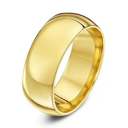 18kt Yellow Gold Heavy Court-Shape Wedding Ring (Available In Various Widths)-Rings-Star Wedding Rings-JewelStreet