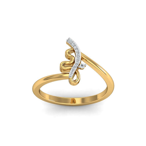 18kt Yellow Gold Pave 0.04ct Diamond Infinity Ring II ,[product vendor],JewelStreet