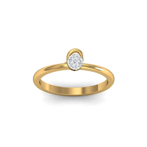 18kt Yellow Gold Pave 0.04ct Diamond Infinity Ring III ,[product vendor],JewelStreet