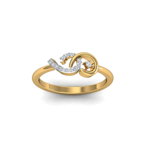 18kt Yellow Gold Pave 0.07ct Diamond Infinity Ring II ,[product vendor],JewelStreet