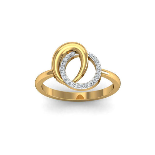 18kt Yellow Gold Pave 0.10ct Diamond Infinity Ring ,[product vendor],JewelStreet