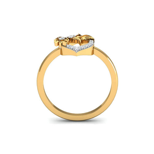 18kt Yellow Gold Pave 0.12ct Diamond Infinity Ring ,[product vendor],JewelStreet
