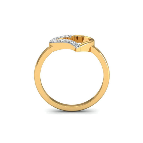 18kt Yellow Gold Pave 0.13ct Diamond Infinity Ring ,[product vendor],JewelStreet