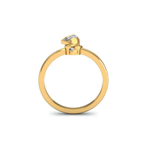 18kt Yellow Gold Pave 0.14ct Diamond Infinity Ring ,[product vendor],JewelStreet